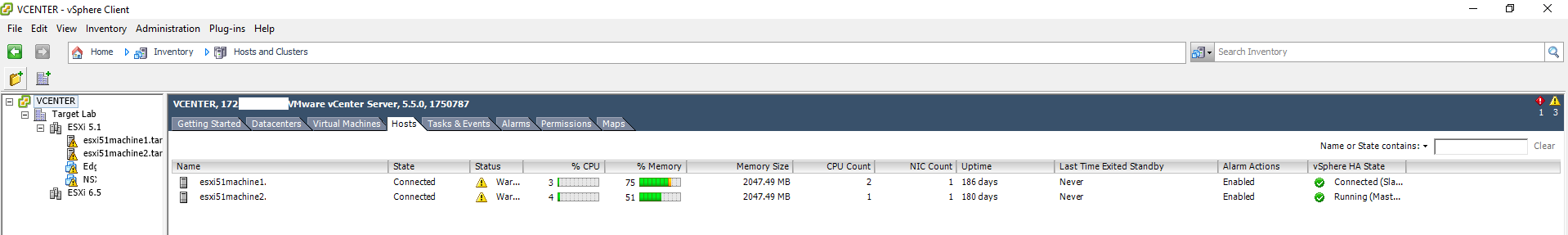 Vulnerability Scanning of the VMWare Environment from Tenable sc